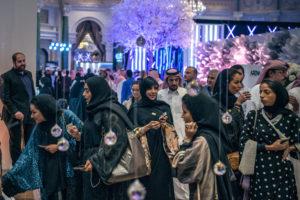 Saudi women at the Amex Luxury Expo in Ryadh, Saudi Arabia, on April 2. / Sergey Ponomarev / NY Times