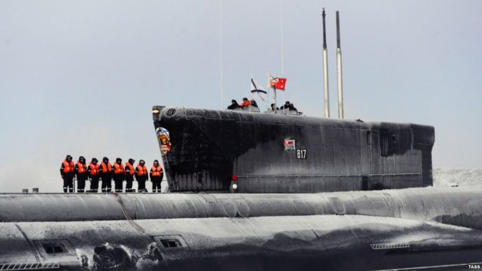 Advanced Russian nuclear missile sub arrives in Far East