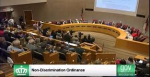 Charlotte's City Council votes on the non-discrimination ordinance on Feb. 22.