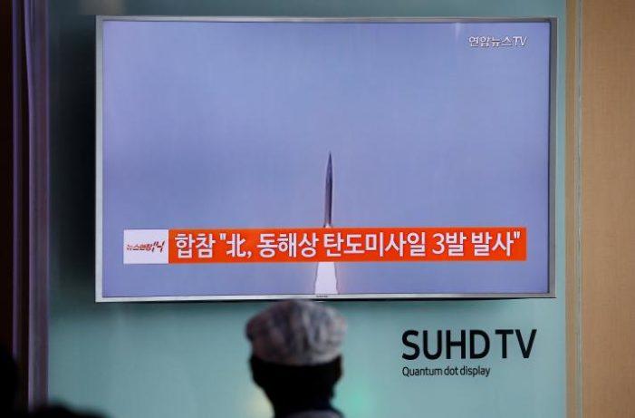 North Korea marks G20 summit by firing three missiles toward Japan