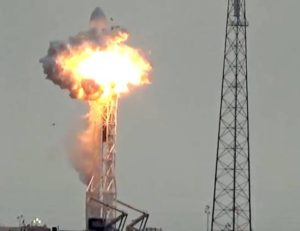 Facebook's satellite explodes on the launch pad at Cape Canaveral on Sept. 1. /YouTube