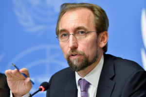 UN High Commissioner for Human Rights Zeid Ra'ad al Hussein. /UN photo