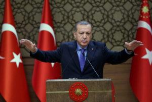 Turkish President Recep Tayyip Erdogan. /Pool photo by Murat Cetinmuhurdar