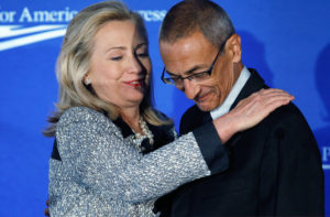 Hillary Clinton and John Podesta. /Getty Images