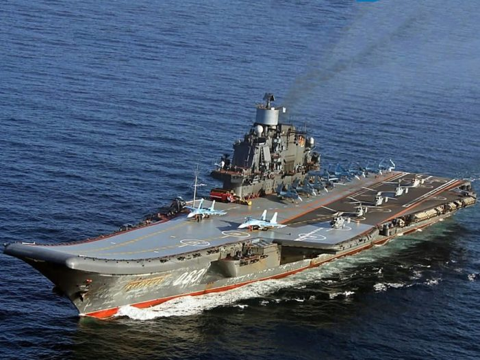 Russian carrier group makes waves in UK during transit to Mediterranean