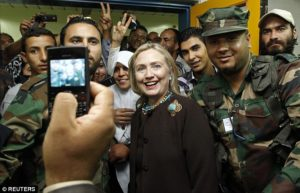 Hillary Clinton went to Libya when it was thought that the fall of Gadhafi was a triumph for the Middle East. /Reuters