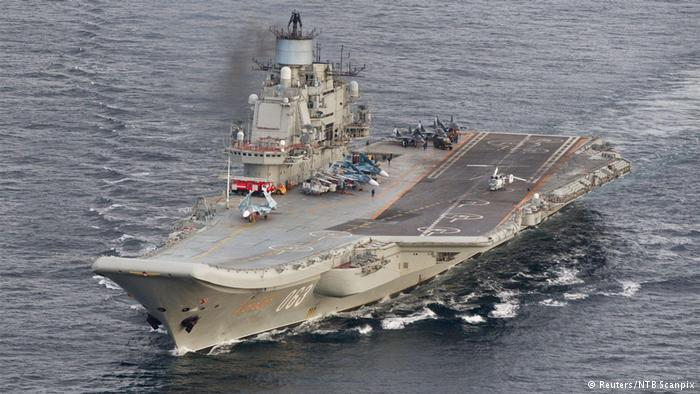 Russian jets to launch airstrikes in Syria from aircraft carrier