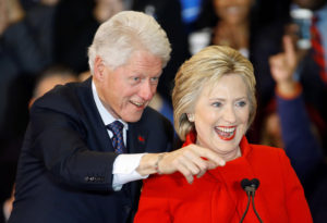 The Clintons 'long ago lost any sense of shame.' /AP