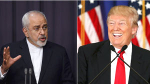 Iranian Foreign Minister Mohammad Javad Zarif and U.S.-President-elect Donald Trump. / RFE / Reuters