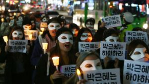 Massive but peaceful protests in Seoul have neutralized a female head of state despised by Pyongyang.