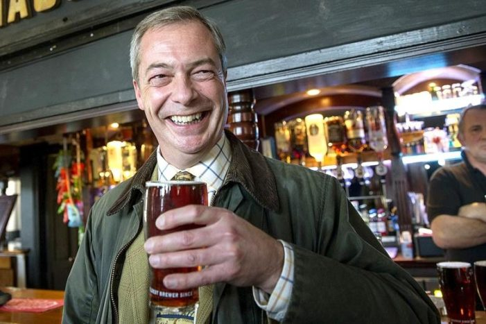 Light-hearted Brexit champ Farage describes heavy threats from intolerant Left