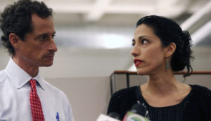 Anthony Weiner and Huma Abedin. /Getty Images