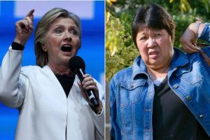 Hillary Clinton and Marina Santos