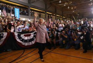 Hillary Clinton at a campaign stop in Greensboro, North Carolina.