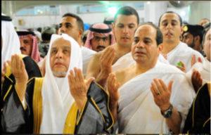 President Abdel Fattah al-Sisi performing the 'umrah' at the Haaj in Saudi Arabia in August 2014.