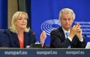 Marine Le Pen, left, and Geert Wilders