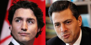 Canadian Prime Minister Justin Trudeau and Mexican President Enrique Pena Nieto