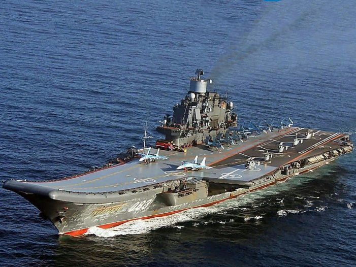 Russian fighter jet crashes near trouble-plagued aircraft carrier in Mediterranean
