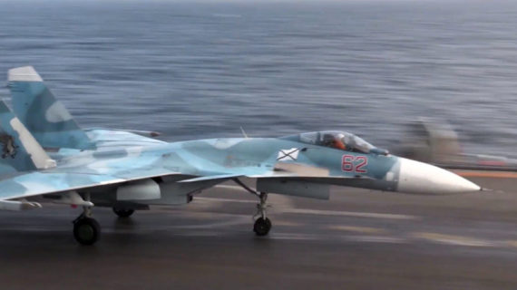 Second Russian jet crashes near troubled carrier off Syria