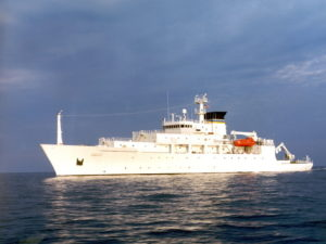 The T-AGS 60 Class Oceanographic Survey Ship, USNS Bowditch. / U.S. Navy