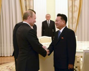 North Korea's Choe Ryong Hae meets with Russia's President Vladimir Putin in Moscow in November 2015. / Reuters