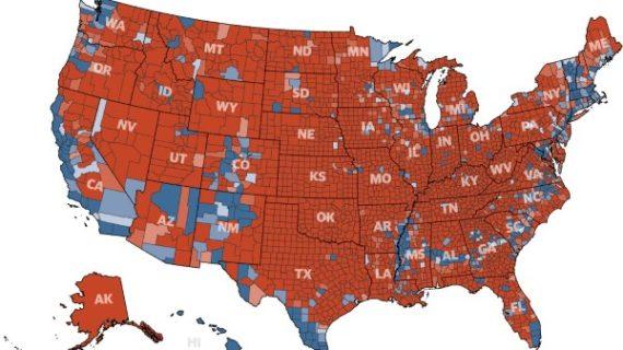 America rejects the 'coastal elites': Trump won 3,084 of 3,141 U.S. counties