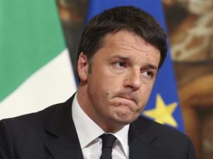 Italian Prime Minister Matteo Renzi at a news conference at Palazzo Chigi in Rome. /Reuters