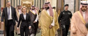 German Defense Minister Ursula von der Leyen meets with Saudi officials in Riyadh. /Twitter