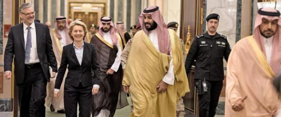 Saudi twitter storm after Germany's first female defense minister dresses as she pleased on official visit