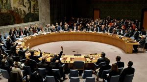The United Nations Security Council votes to pass a resolution condemning Israeli settlement construction at United Nations headquarters in New York. /AAP