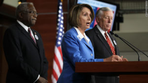 House Democratic leadership, from left, Rep. Jim Clyburn, Rep. Nancy Pelosi and Rep. Steny Hoyer. /Getty Images