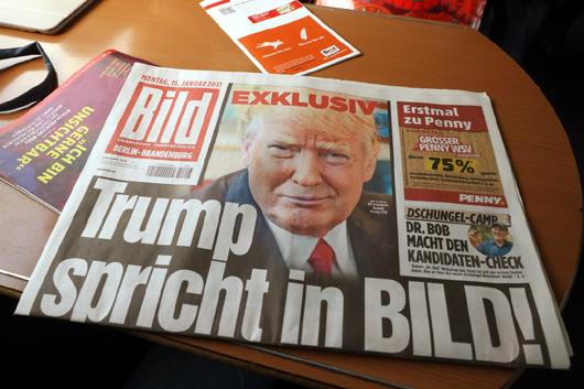Bild Zeitung Publishes Exclusive Trump Interview