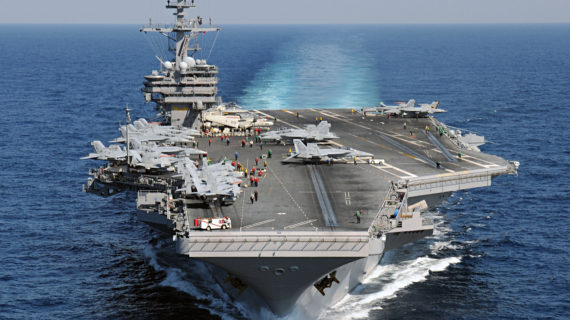 Chaotic Middle East to be without U.S. aircraft carrier for months
