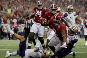 Alabama defeated Washington, 24-7, in the College Football Playoffs semifinals on Dec. 31. /Getty Images