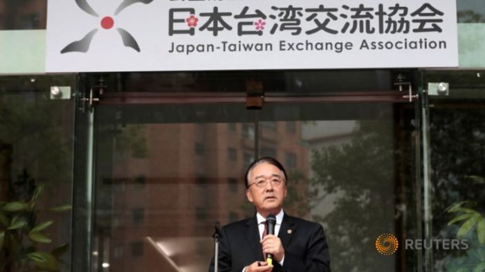 China angered at change in name of Taiwan embassy in Japan
