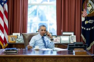 President Barack Obama in the Oval Office. /Pete Souza/White House