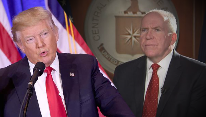 Trump asks if CIA's Brennan leaked 'fake news'; Brennan warns Trump should 'watch what he says'