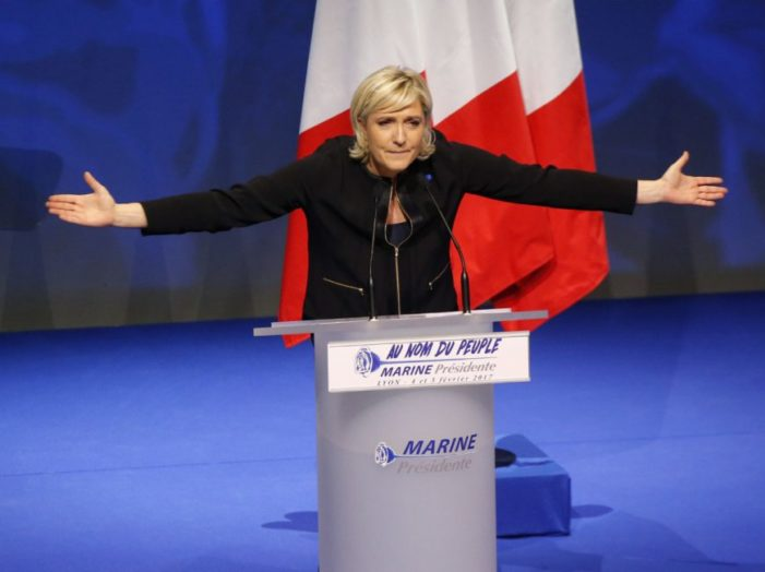 France first: Le Pen sides with Trump and Brexit against globalization, militant Islam