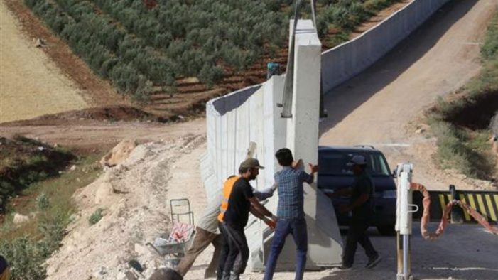 Turkey has completed more than half of its Syria border wall