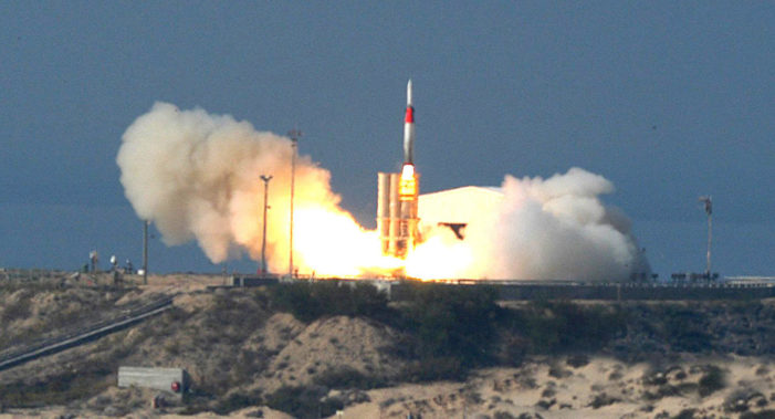 Israel downs Syrian missile in first use of Arrow system