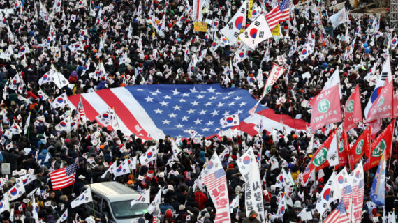 Cognitive dissonance in Seoul over the waving of American flags