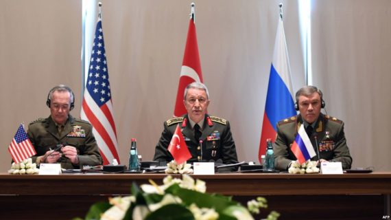 Turkey, Russia, U.S. military chiefs hold talks on fight against ISIS