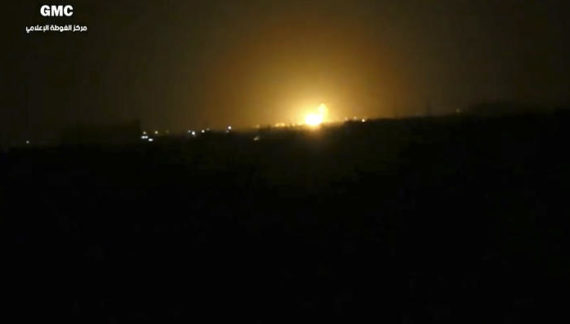 Blast followed by fire reported near Damascus airport