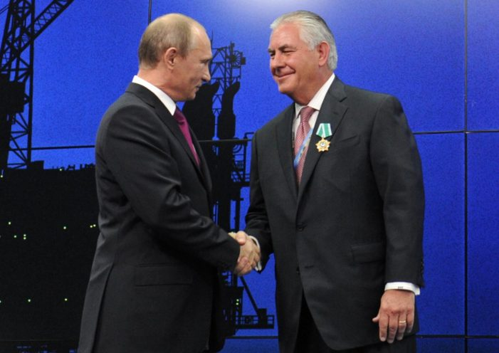 Tillerson's message in Moscow: Your choice, U.S. or the Assad-Iran axis