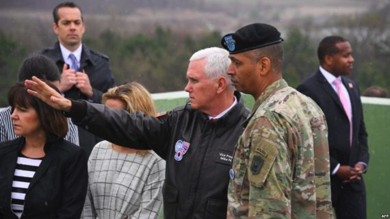 Pence warns North Korea not to test U.S. 'resolve'