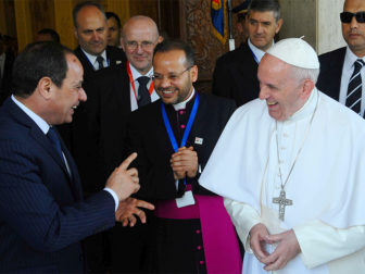 Violence in God's name can't be tolerated, Pope Francis tells Egyptian Muslim leaders