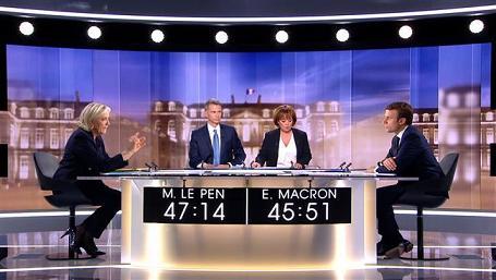 In France, a showdown debate: 'Parasite' Marine Le Pen vs 'smirking banker' Macron