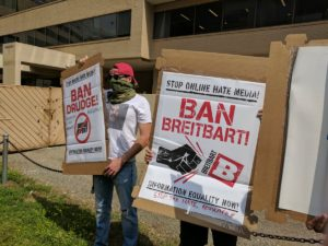 Protesters Wants 'free And Equal' Internet That Bans Drudge And Breitbart