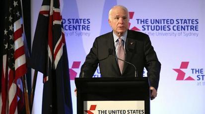 As Trump returns, McCain embarks on overseas apology tour