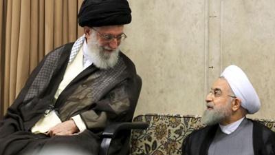 Iran's Khamenei, Rouhani issue sharply-contrasting responses to Trump's visit